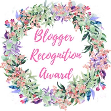 Blogger RecognitionAward